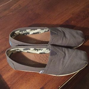 Toms gray slip on shoes